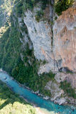 River tara canyon. The deepest canyon in the Europe. The second deepest canyon in the world Stock Image