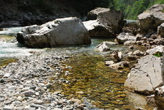 River Tara in Monte Negro. Nice river Tara in Monte Negro in Durmitor national park Royalty Free Stock Photo