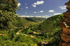The river Tarn gorges, Southern France Stock Images