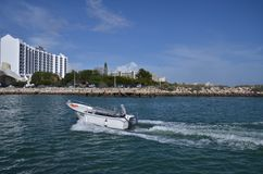 River taxi on Atlantic Ocean!!. Albufeira in Algarve Stock Photos