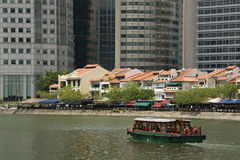 River taxi, Boat Quay, Singapore Royalty Free Stock Photography
