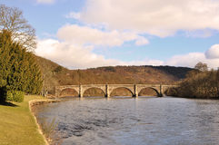 The River Tay at Dunkeld, Perthshire Royalty Free Stock Image