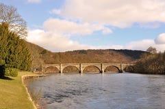 The River Tay at Dunkeld, Perthshire. The bridge over the River Tay at Dunkeld, Perthshire Royalty Free Stock Image