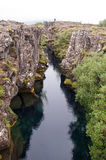River between tectonic plates Royalty Free Stock Images