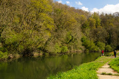 River Teifi. On a sunny spring day Stock Photo