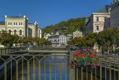 River Tepla in Karlovy Vary Royalty Free Stock Images