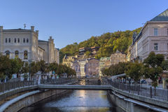 River Tepla in Karlovy Vary Royalty Free Stock Photography