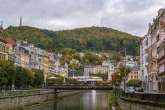 River Tepla in Karlovy Vary Royalty Free Stock Photos