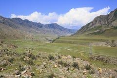 River terraces of mountain rivers Chuya and Katun Stock Photography