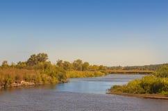 River Teterev sunny summer day Royalty Free Stock Photos