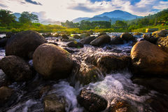 River in thailand royalty free stock photography