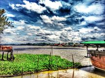 River. At thailand on lunch time royalty free stock images