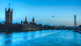 The River Thames. By the British Houses of Parliament Royalty Free Stock Photography