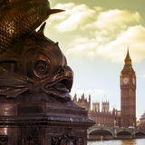 The River Thames and the Big Ben in London, United Kingdom, with Royalty Free Stock Photos