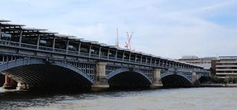 River Thames, Blackfriars railway bridge, London Stock Photo