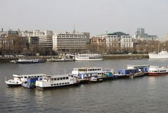 River Thames in Central London. England Stock Photo