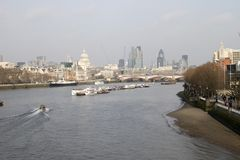 River Thames in Central London. England Royalty Free Stock Images