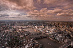 River Thames and central London,England facing Stock Image