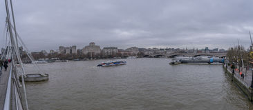 The River Thames in Central London stock photos