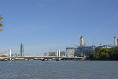 River Thames at Chelsea, London, England Royalty Free Stock Photos