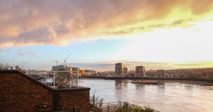 River Thames early morning looking towards southeast London. royalty free stock photo