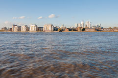 River Thames in eastern London Stock Images