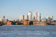River Thames in eastern London Royalty Free Stock Photography