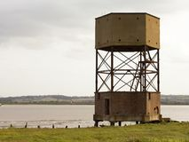 River Thames eastury uk water tower Royalty Free Stock Photos