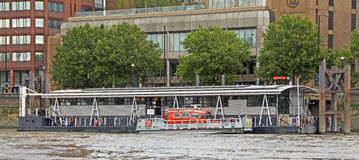 River Thames: Fire & Rescue Royalty Free Stock Images