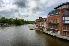 River Thames flowing through Windsor, UK Stock Photo