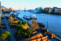 River Thames and gardens view. London  Stock Photo