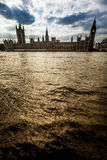 River Thames and Houses of Parliament, London Royalty Free Stock Images