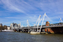 River Thames at Hungerford Bridge, London. Uk Stock Image