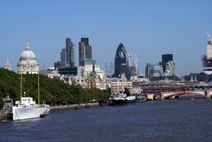 River Thames In London, England, Europe Stock Images