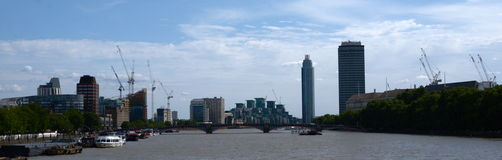 River Thames, Lambeth bridge Royalty Free Stock Photos