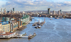 River Thames in London City Royalty Free Stock Images