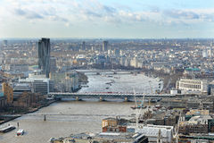 River Thames and London City Stock Image