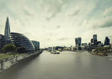 River Thames and london city Stock Images