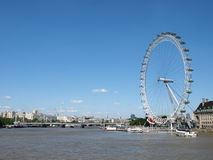 River Thames and the London Eye Royalty Free Stock Images