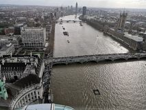 River Thames from the London Eye England stock images