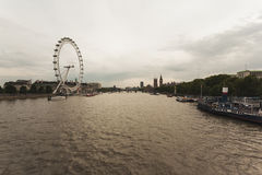 River Thames and The London Eye Stock Images