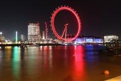 River Thames. London eye winter& x27;s night Stock Photos