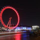 River Thames. London eye winter& x27;s night Royalty Free Stock Photo