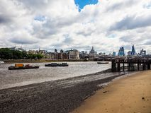 River Thames in London, hdr Royalty Free Stock Image