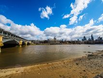 River Thames in London, hdr Stock Image