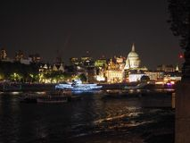 River Thames in London at night Stock Image