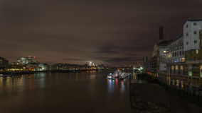 The River Thames, London at night Stock Images