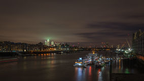The River Thames, London at night Stock Photography