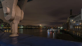 The River Thames, London at night Royalty Free Stock Photo