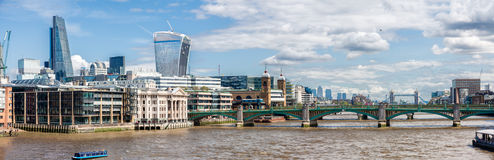The  River Thames in London. Royalty Free Stock Images